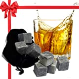 Best Whiskey Stones Gift Set with Magnetic Closure...