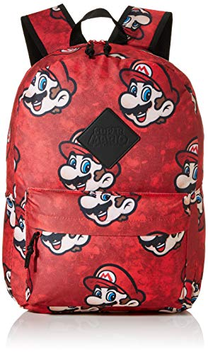 Bioworld: Difuzed Sac �  Dos  Mochila Super Mario Sublimacion Unisex Adulto  Rojo  Rouge