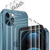 YockTec Vidrio Templado para iPhone 12 Pro MAX Protector de Pantalla + iPhone 12 Pro MAX cámara Cristal Templado (3+3 Piezas), 9H Transparente Protector de Pantalla para iPhone 12 Pro MAX 6.7'