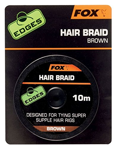 Fox Edges Brown Hair Braid For Carp Fishing 10m