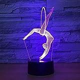 Fußball Lampe Weihnachtsgeschenke Nachtlicht Led 3D Gym Lampe Yoga 7 Farben Nachtlampen Für Kinder...