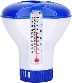 Jeffergarden Chlore Piscine Galet Flottant Thermomètre de Chimique Flottant Distributeur de Chlore de Piscine Chimique ave...