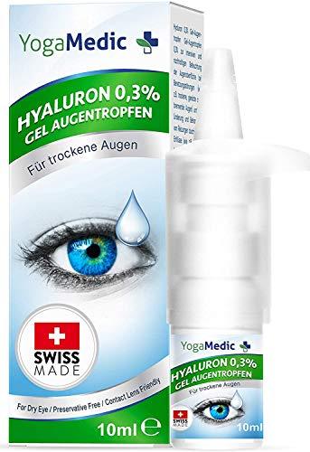 Augentropfen gegen trockene Augen YogaMedic® 10ml unkonserviert, Swiss Made, ideale Konsistenz, Kontaktlinsen geeignet