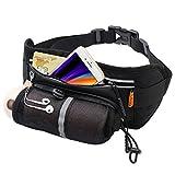 ACADGQ Running Belt for Phone Waterproof Waist Pack Elastic Strap Water Bottle Holder