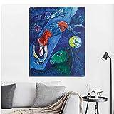 Gopfl Maler Designer Marc Chagall Der Blaue Zirkus Poster