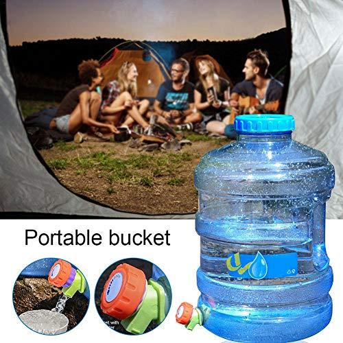 TARTIERY Recipiente De Almacenamiento De Agua PC con Grifo con Tapa Cubo De Agua Potable De Emergencia Portátil para Barbacoa, Camping, Senderismo, Escalada Picnic Emergencias