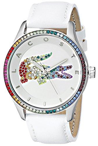 Lacoste 2000822 Victoria Reloj analógico de cuarzo japonés para mujer, color blanco