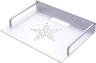 REFURBISHHOUSE Decodificadores de Caja de TV enrutador Mini PC Reproductor de DVD de Pared de Aluminio de una Sola Capa Soporte de Montaje Estanteria Soporte Estanteria Soporte de Estante