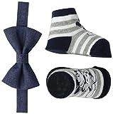 Disney Baby Boys Mickey Mouse Bowtie & Sock Set, denim Bowtie/Socks, 0-12M