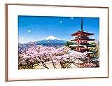 artboxONE Poster mit Rahmen Kupfer 60x40 cm Berg Fuji im