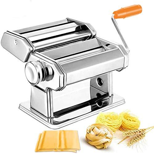 wolketon Nudelmaschine Manuell Pastamaschine Pasta Maker Kitchen aid Pasta Maschine Edelstahl für Spaghetti, Lasagne, Tagliatelle