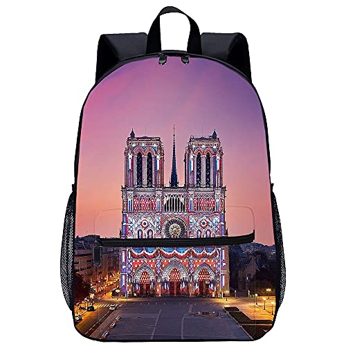 YSSMGS Mochila de la vida cotidiana Notre Dame de París Mochila unisex, , mochila escolar, mochila escolar para adolescentes, mochila para niño, mochila de viaje para niña, mochila escolar