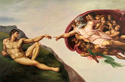 Gifts Delight Laminated 19x12 Poster: Michelangelo Buonarroti - Michelangelo, The Creation and Sistine Chapel