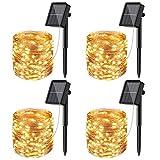 [4 Pacchi] Catena Luminosa Esterno Solare, Litogo 12m 120 LED Luci Solari Esterno 8 Modali...