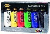Kreul 84160 - Solo Goya Acrylic im Set, 6 Farben je 100 ml, cremige vielseitig einsetzbare Acrylfarbe in Studienqualität, auf Wasserbasis, schnell und matt trocknend, gut deckend, wasserfest