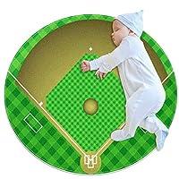 エリアラグ軽量 野球場 フロアマットソフトカーペット直径27.6インチホームリビングダイニングルームベッドルーム