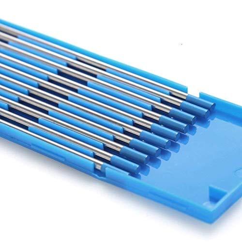 TEN-HIGH tig Electrodos de tungsteno Electrodos de soldadura, Lantano 2% Azul, Para soldadura CC y CA, 1.6 mm x 150 mm
