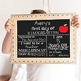 First Day of School Board, Reusable Chalkboard Sign for Kindergarten, Preschool, Kids Back to School, Works with Chalk Markers