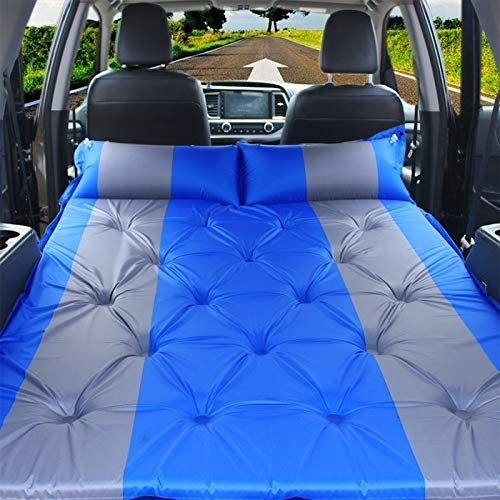 Coprisedili Allinclusive per auto Gonfiabile automatico SUV auto gonfiabile da viaggio Outdoor Car Air materasso Fonti automobile da viaggio Bed (Color : Blue)