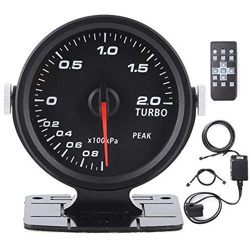 Misuratore di pressione Turbo Boost, Misuratore di pressione Turbo Boost per auto CAMMUS 60mm Colorato 17 colori OBD2 Misuratore contagiri da corsa Accessori auto Metro