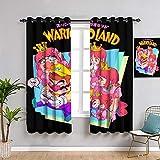 Wario Land Super Mario - Juego de cortinas para ventana (42 x 72 pulgadas)