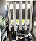 Blackout Extra Long Curtain for 2 Story Living Rooms, Drape 10,12, 14, 15 16, 17, 18, 20, 24 feet Long 100 and 50 inche Wide. (Cream, 100' Wx144 L)