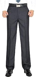 Minghe ビジネススラックス メンズ 防シワ ノータック ストレート ゆったり ウォッシャブル ノーアイロン スーツパンツ 家庭で洗える 通勤 大きいサイズ 紳士 春夏物