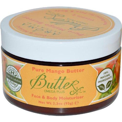 Pur Beurre de Mangue, Visage Corps Hydratant, 3,3 oz (95 g) - Aroma Naturals