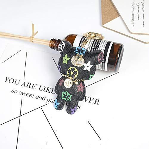OIUYT 2020 Moda llaveros Colgantes Regalo Bolsa de Mercancías Oso Llavero Colgante Diamantes de imitación de Dibujos Animados (Color : K271 3, Size : 21 130MM)