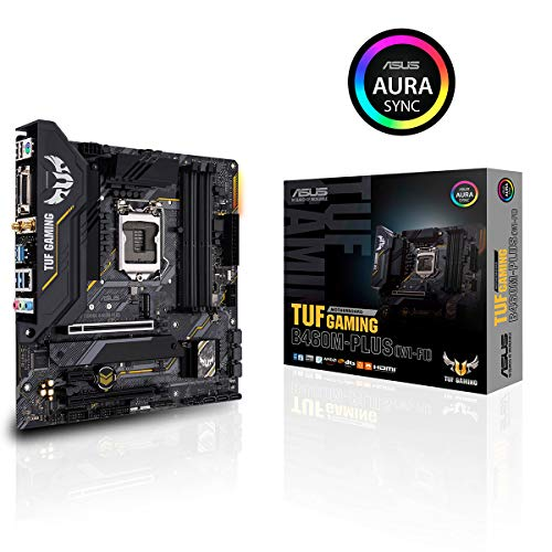 ASUS TUF Gaming B460M-PLUS (WI-FI) Mainboard Sockel 1200 (Mikro ATX Gaming-Mainboard, 8 Leistungsstufen, Intel WiFi 6, HDMI, DisplayPort, SATA 6Gbit/s, USB-3.2-Gen-1-Anschluss Aura-Sync)