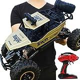 Coche de control remoto 2.4GHz 4WD todoterreno Camión 1:12 Control remoto Monster Truck RC Car Off-Road Vehículo para niños adultos --37 × 23 × 20 cm, rojo (dorado)