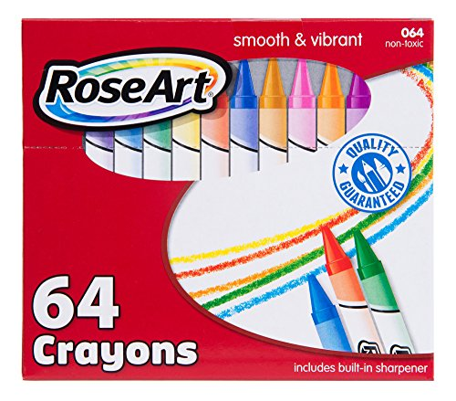 RoseArt 64-Count Crayons Packaging May Vary (CYR96)