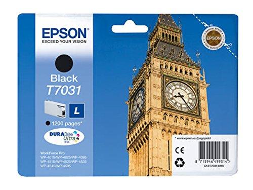 Epson WorkForce Pro WP-4535 DWF (T7031 / C 13 T 70314010) - original - Ink cartridge black - 1.200 Pages - 24ml