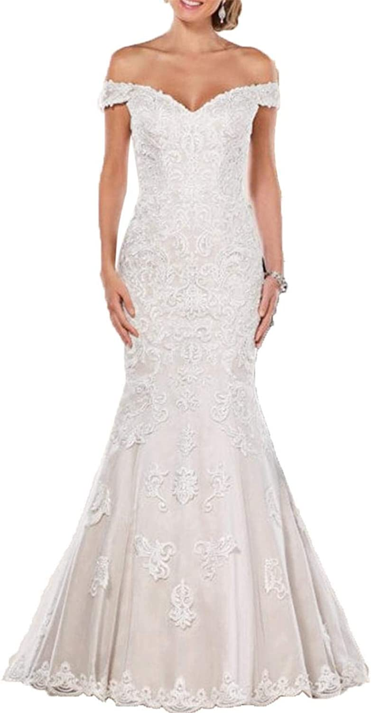 Lily Wedding Women's Off Shoulder Long Sleeve Wedding Dress 2018 Bridal Gown Floor Length FWD002
