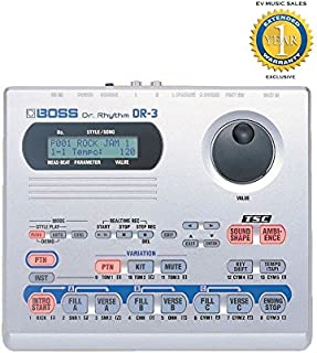 Boss DR-3 DR. RHYTHM Drum Machine with 1 Year Free Extended Warranty