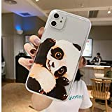 JICUIKE iPhone 11 Case, [Color Printed] Cute Animal Pattern Painted Silicone Protective Skin Ultra Slim Clear Soft TPU Bumper Back Cover for iPhone 11 Shell 6.1 inch [Lovely Panda]