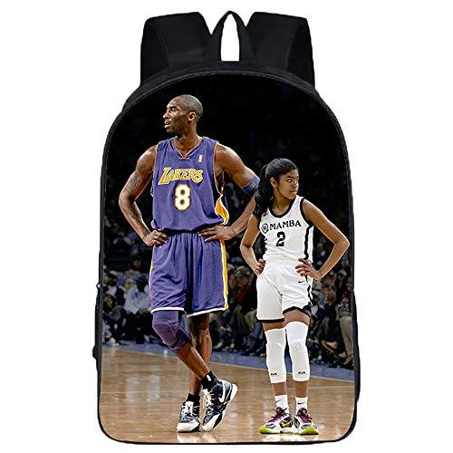 Kobe Bryant Freizeitrucksack Rucksack Daypack Schoolbag Trekking-Rucksack Wandern Tasche Mann, der eine Frau Fashion Trendsport kühlen Wilde Art Beiläufig Unisex