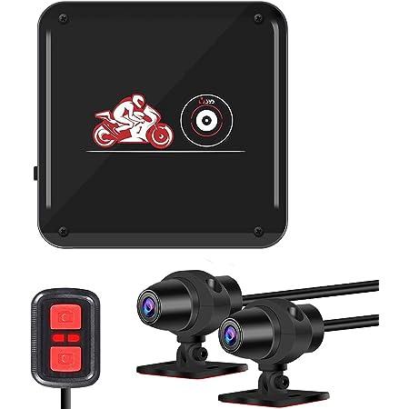 Motocam バイク用ドライブレコーダー 前後カメラ 全体防水 SONY IMX323センサー 1080PフルHD WiFi機能 超暗視機能 LED信号機対策 130°広角 HDR/WDR技術 リモコン付き 常時録画 ループ録画 緊急録画 Gセンサー 小型 日本語説明書 一年間品質保証 P6FL