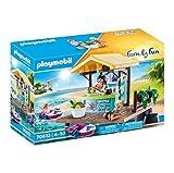 PLAYMOBIL Family Fun 70612 - Alquiler de canoas con Bar de zumos, 2 Barcos flotantes, a Partir de 4 años