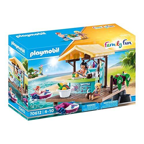 PLAYMOBIL Family Fun 70612 Paddleboot-Verleih mit Saftbar, Mit 2 schwimmfähigen Booten, Ab 4 Jahren