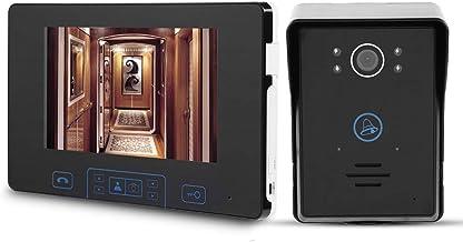 Video Timbre, Inalámbrico Pantalla LCD de 7pulgadas Kit de interfono Inteligente para intercomunicador Charla de 2 vías co...