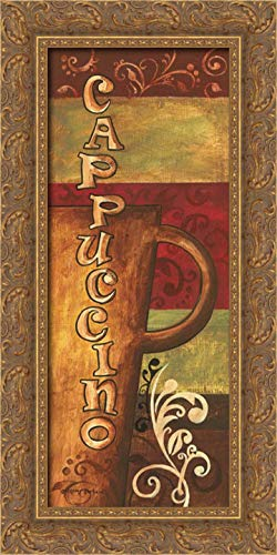 Gorham, Gregory 12x24 Gold Ornate Framed Canvas Art Print Titled: Cappuccino