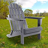 HIDROSIL Adirondack Chair Comfortable Fire Pit Chairs, Backyard Seats with Adirondack Chair Covers, Folding Adirondack Chair for Adults Up to 300lbs and Weather-Resistant Outdoor Furniture