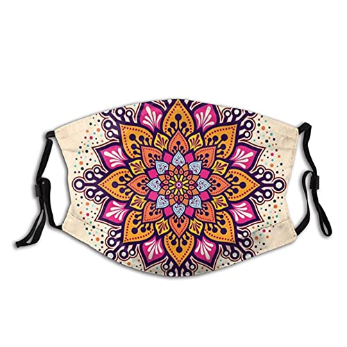 Mascarillas reutilizables Ma-sks Mandala Flower Face Ma-sk Moda...