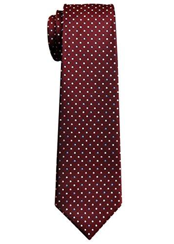 Corbata tejida de tres colores vintage para niño de 8 a 10 años - rojo - 8-10 años