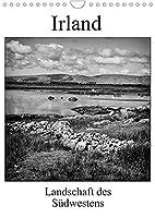 Irland - Landschaft des Suedwestens (Wandkalender 2022 DIN A4 hoch): Eindrucksvolle schwarz-weiss Fotos zeigen die einmalige Schoenheit Irlands (Monatskalender, 14 Seiten )