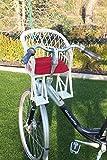 Kinderfahrradsitz Fahrradsitz aus Weide in weiß für den Fahrradlenker mit/ohne Kissen (mit Kissen)