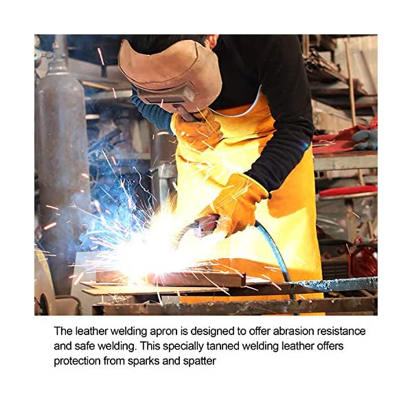 Mrcartool Leather Welding Work Apron 4