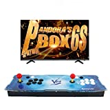 Spmywin 2400 HD Retro Arcade Game Console Pandoras Box 6S Arcade Machine Newest System Support Expand 2D Games 1080x720 Full HD Advanced CPU Mini Arcade Come with a 16G U Drive