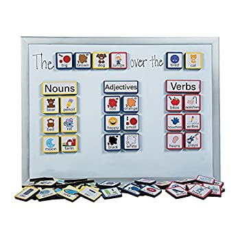 Fun Express Sentence Building Foam Magnets - 103 Pieces - Educational and Learning Activities for Kids